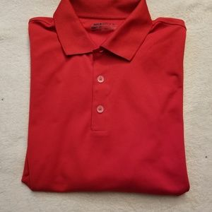 Red Nike Golf fit dry SZ large polo